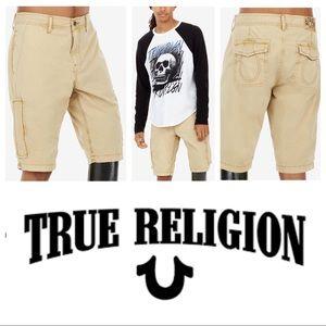 True Religion Mojave Brown Cargo Shorts